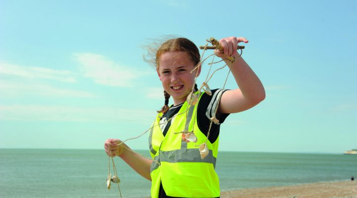 Annecy School at the beach©Miles Davies_Sussex Wildlife Trust