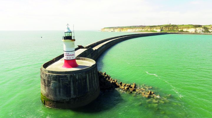 Lighthouse, at port of Newhaven