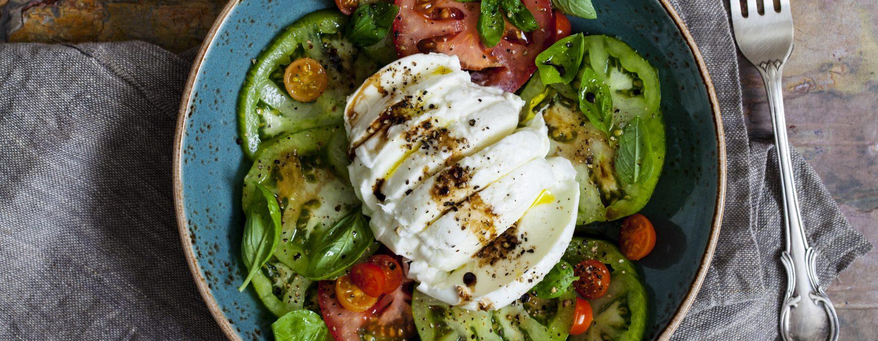 Simple Tomato, Basil & Buffalo Mozzarella Salad