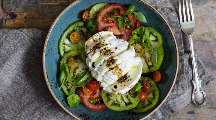 Simple Tomato, Basil & Buffalo Mozzarella Salad