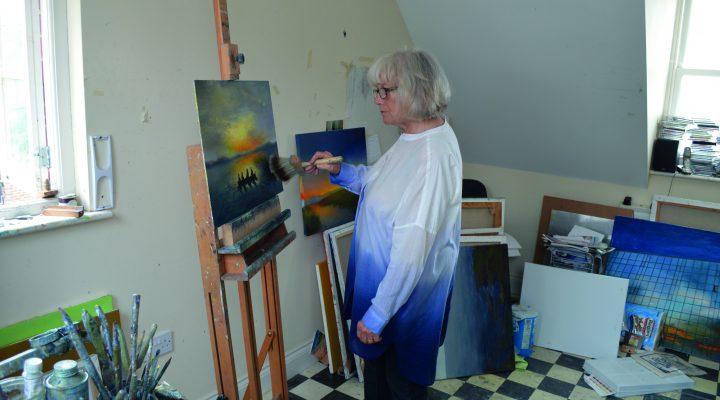 Pauline in her studio