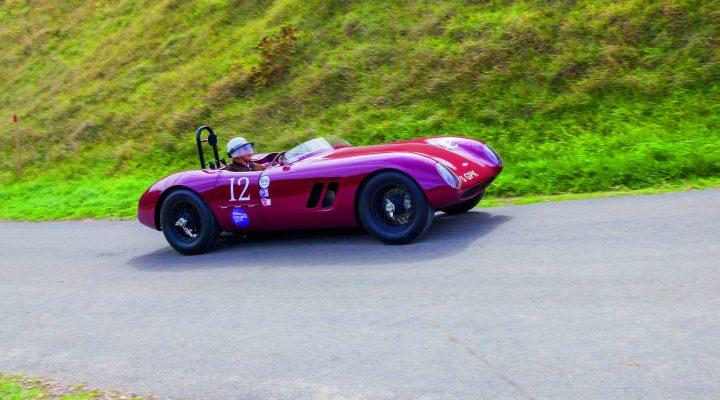 A classic Jaguar on the hill climb