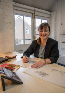 Nicola Working in her Lewes Studio. Image: David Stacey